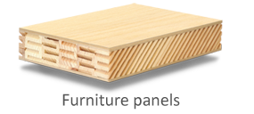 Lightweight solidwood furniture panel