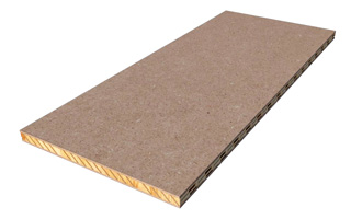 Lightweight 3-layer panel with MDF
