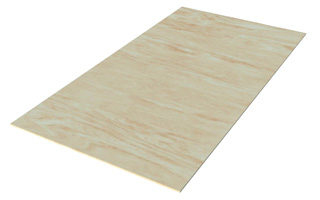 Lightweight 3-layer panel with plywood